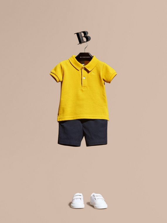 Check Placket Polo Shirt | Burberry Australia