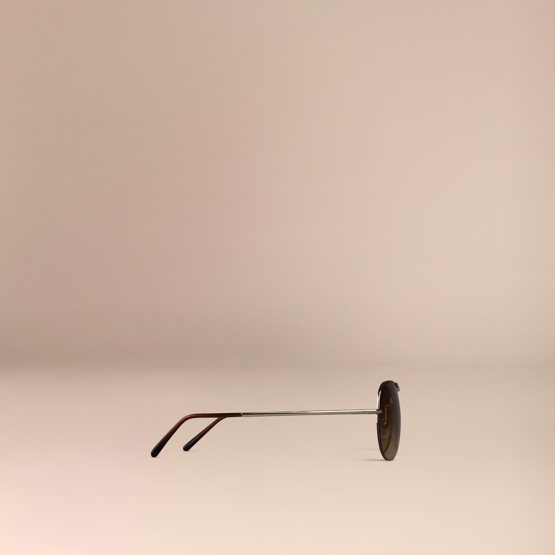 Pale gold Half-Frame Aviator Sunglasses - gallery image 4