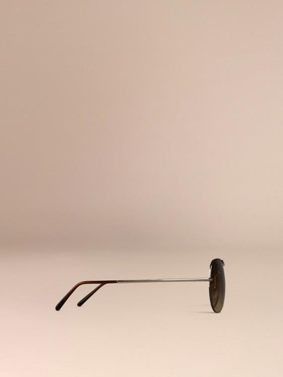 Pale gold Half-Frame Aviator Sunglasses - cell image 3