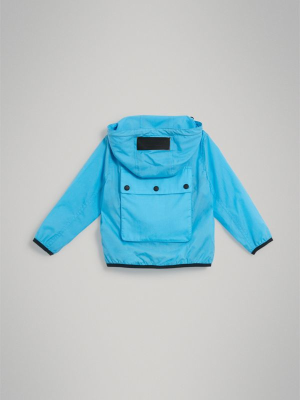 Showerproof Hooded Jacket in Bright Turquoise - Boy | Burberry - cell image 3