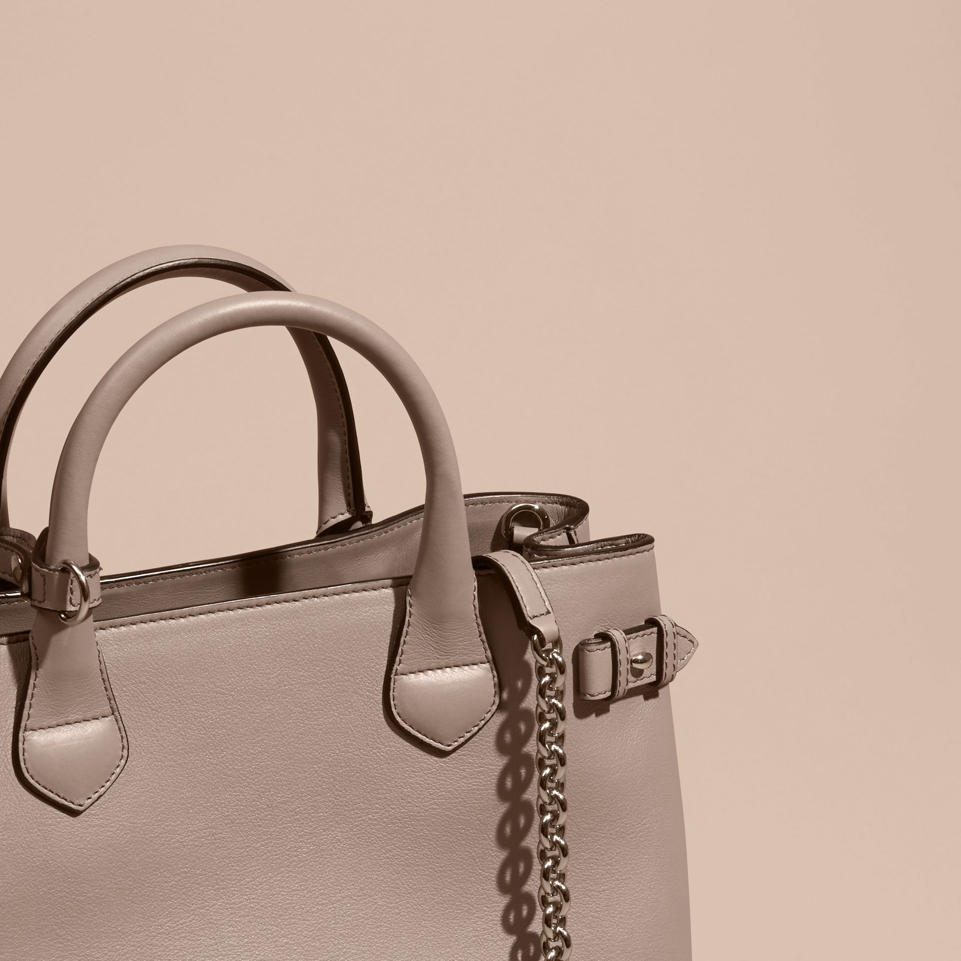 The Medium Banner in Leather with Chain Detail - Women | Burberry - gallery image 7