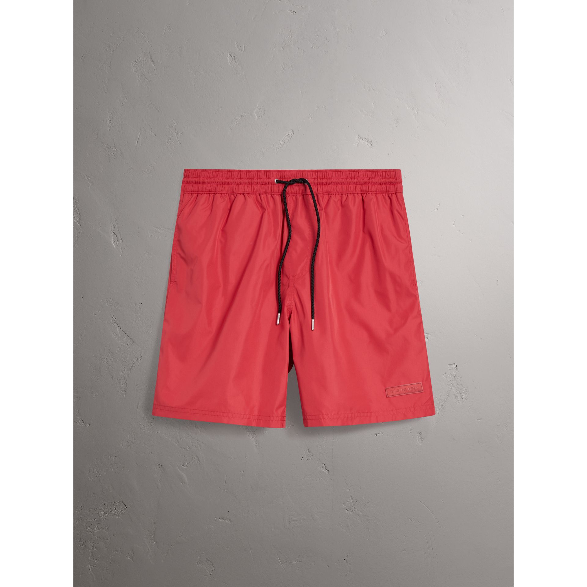 Drawcord Swim Shorts in Parade Red - Men | Burberry - gallery image 0