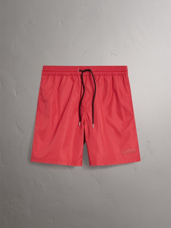Drawcord Swim Shorts in Parade Red