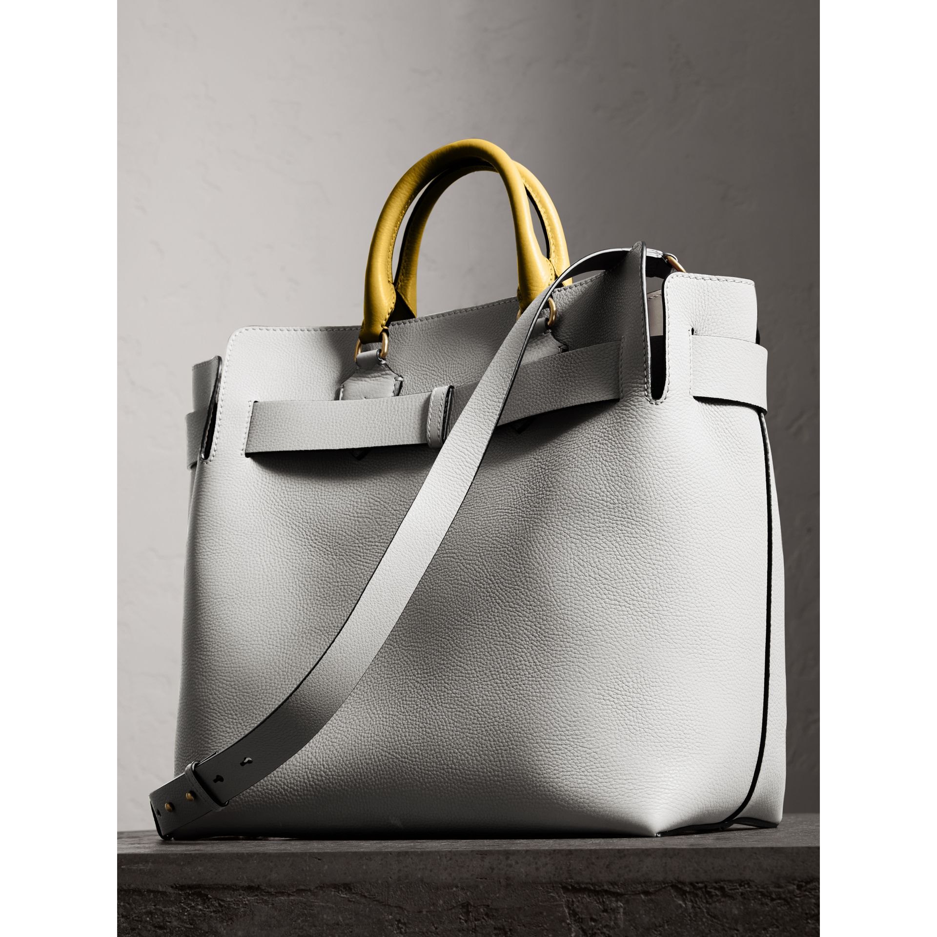 The Large Leather Belt Bag in Chalk White | Burberry Australia - gallery image 4