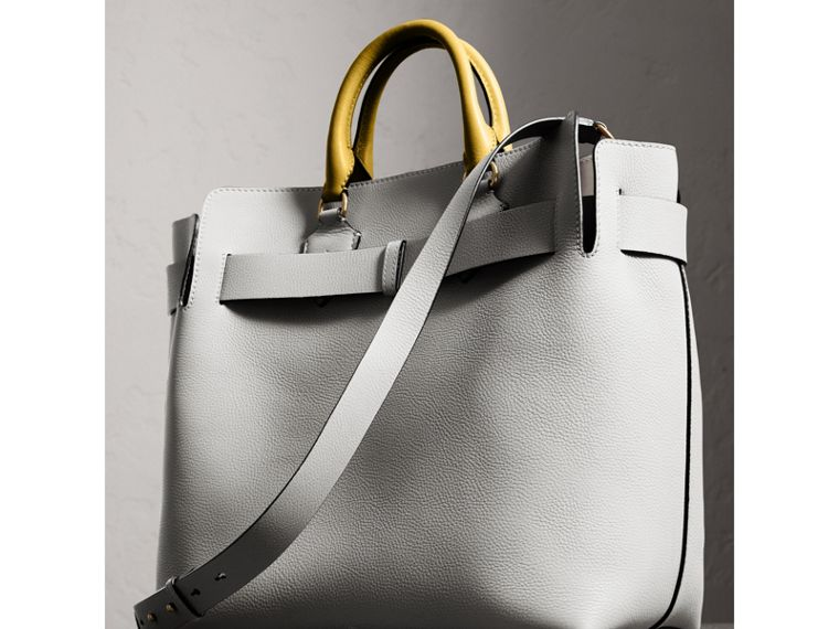 The Large Leather Belt Bag in Chalk White | Burberry - cell image 4