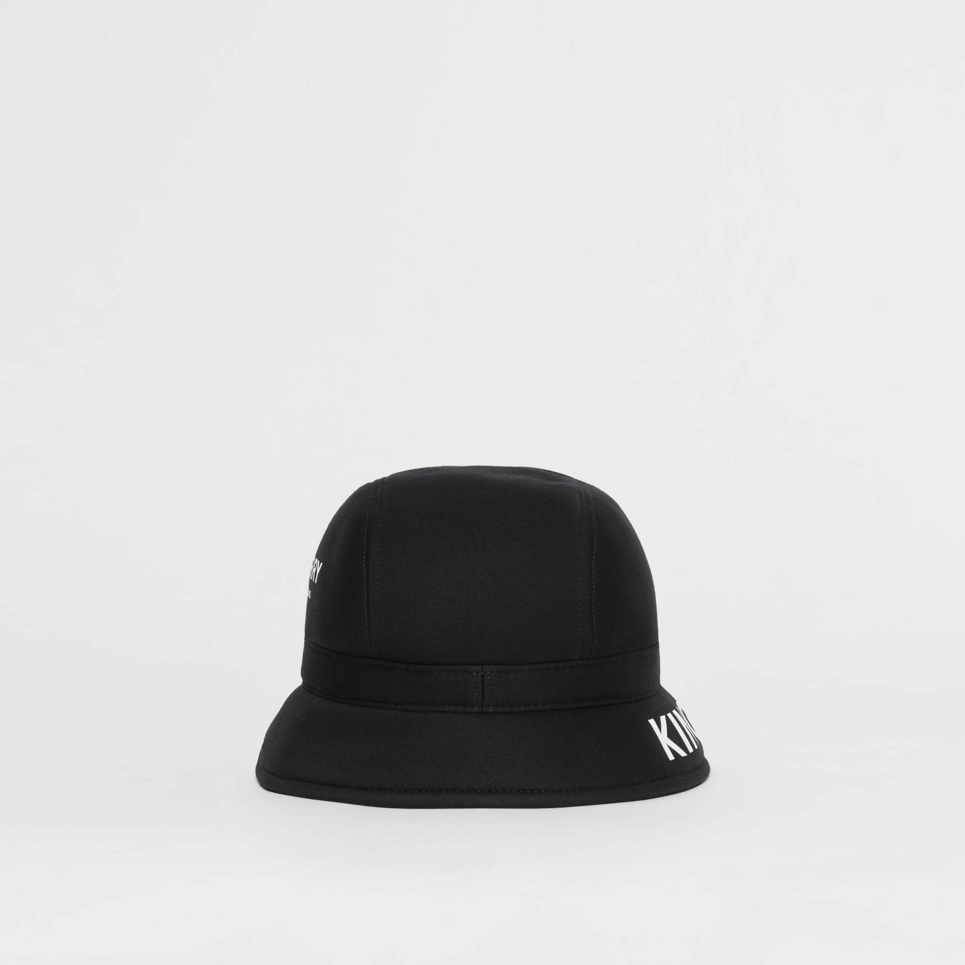 Kingdom Print Neoprene Bucket Hat in Black | Burberry - gallery image 8