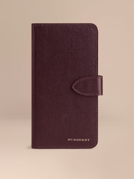 London Leather iPhone 6 Plus Flip Case Wine