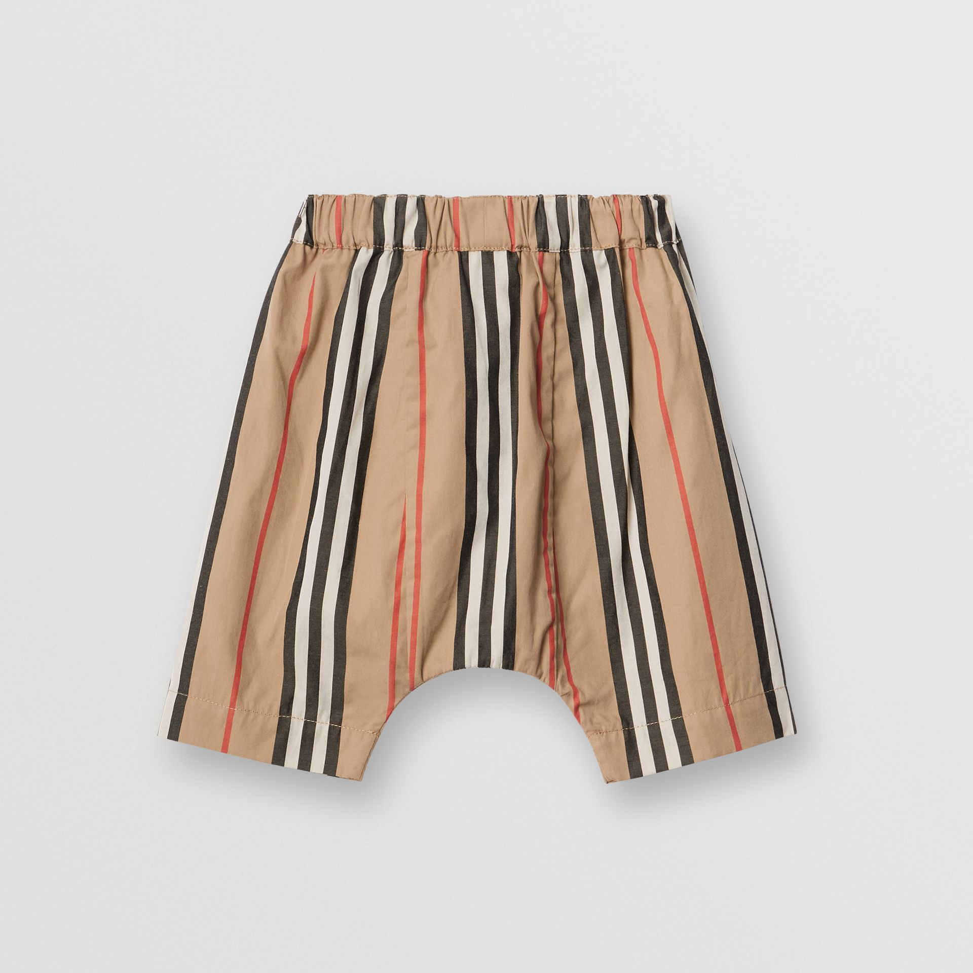 Icon Stripe Cotton Poplin Trousers in Archive Beige - Children | Burberry United States - gallery image 3