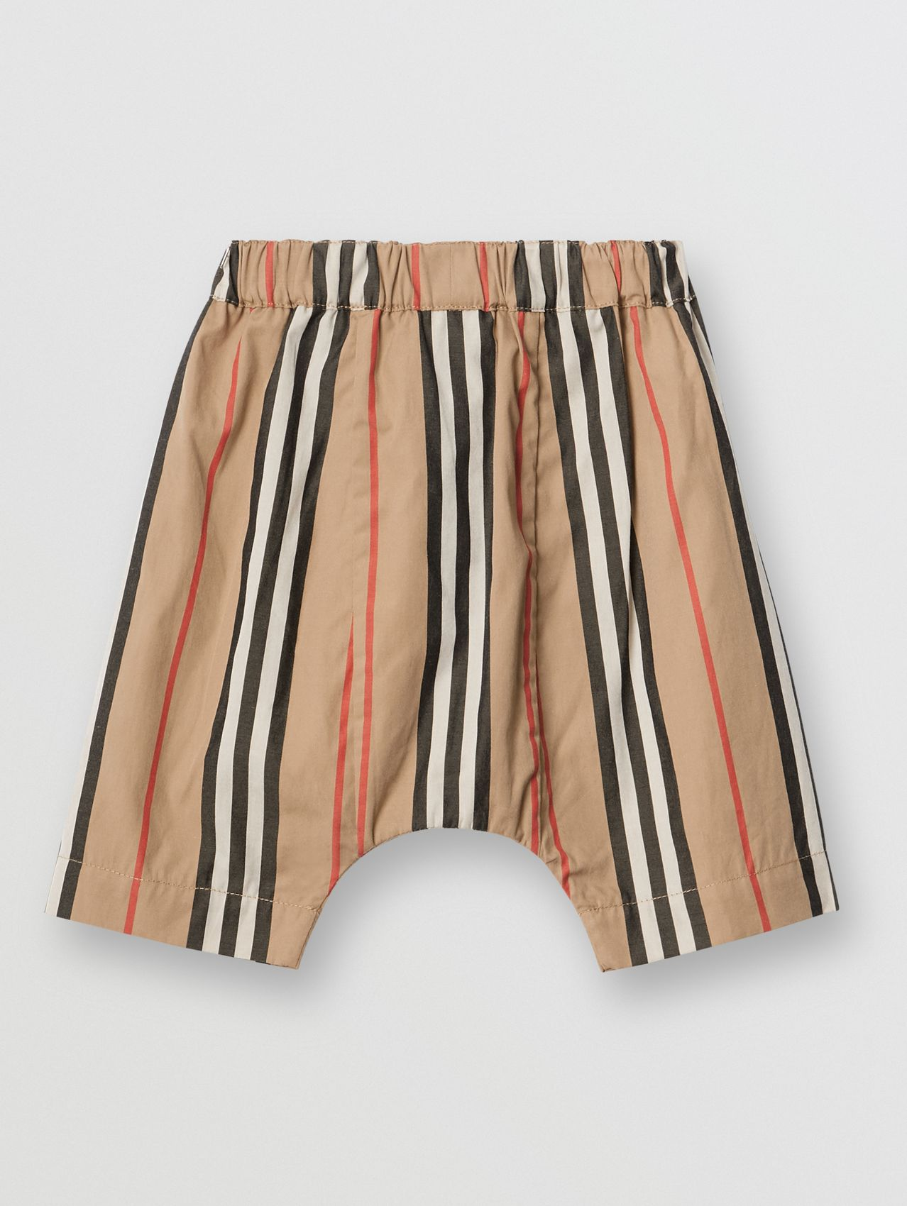 Icon Stripe Cotton Poplin Trousers in Archive Beige