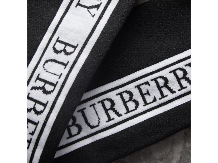 Logo Technical Knit Long Socks in Black - Women | Burberry Australia - cell image 1