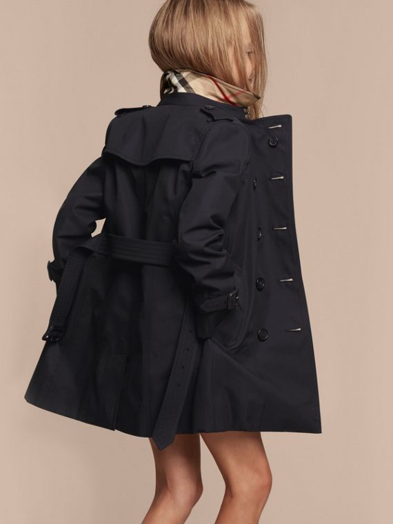 The Sandringham – Heritage Trench Coat in Navy - Girl | Burberry - cell image 3
