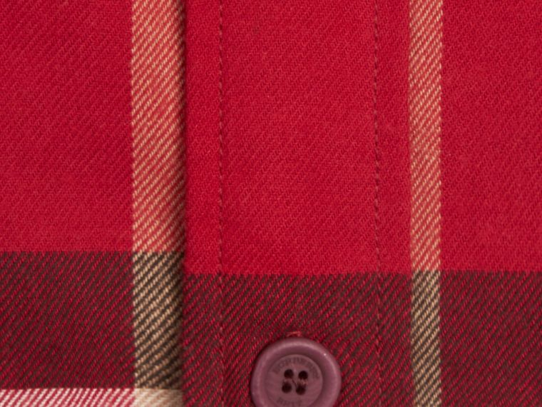 Parade red Check Cotton Flannel Shirt Parade Red - cell image 1