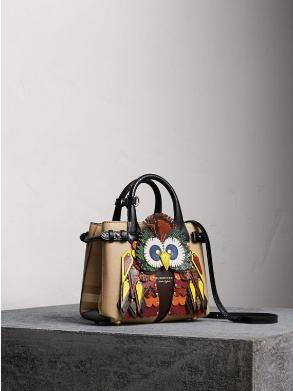 The Small Banner in Leather with Beasts Motif - Women | Burberry