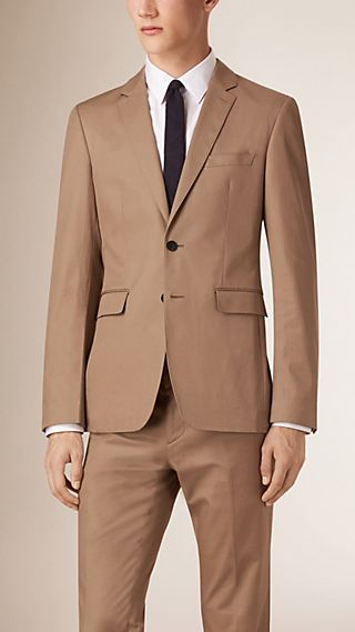 Slim Fit Stretch-cotton Travel Tailoring Jacket
