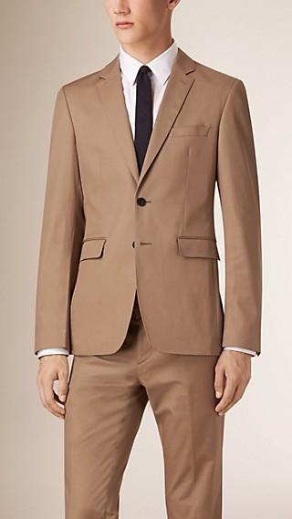 Veste de coupe étroite slim en coton extensible Travel Tailoring
