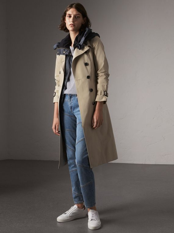 The Sandringham – Extra-long Trench Coat in Stone