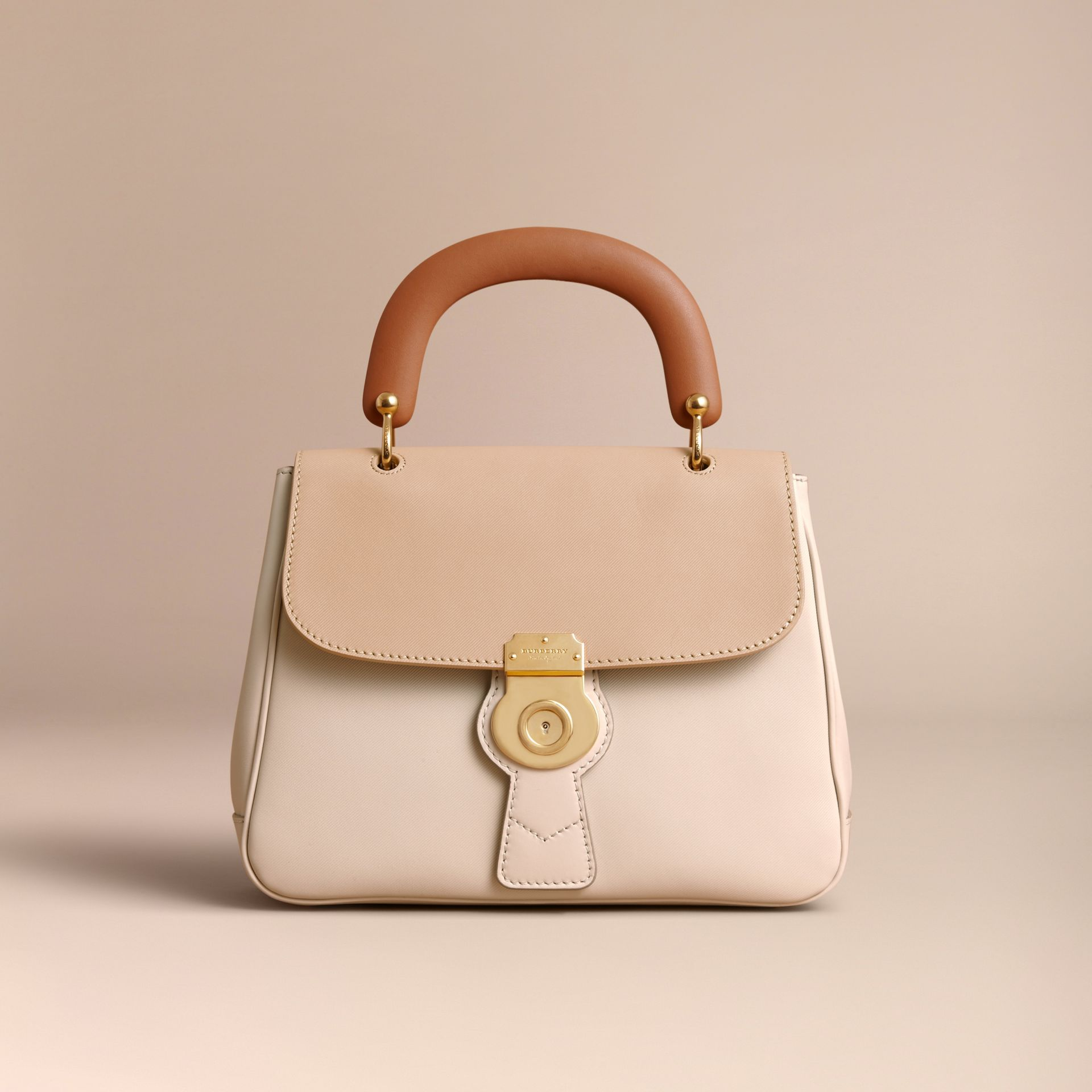 The Medium DK88 Top Handle Bag Limestone/honey - gallery image 8