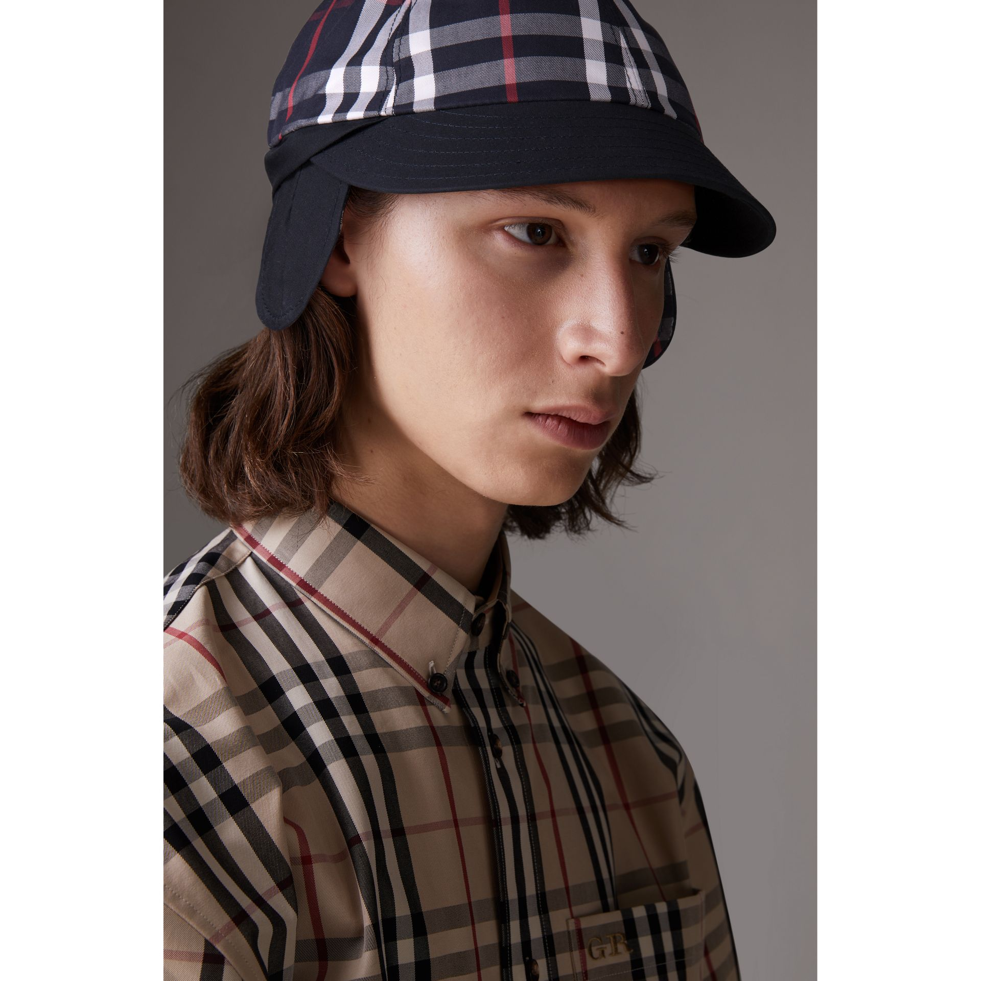 Gosha x Burberry Baseball Cap in Navy | Burberry Australia - gallery image 2
