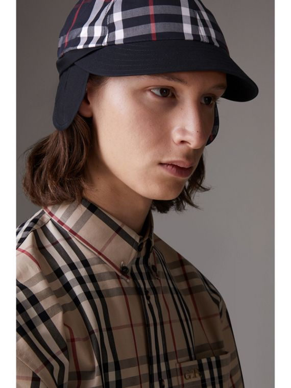 Gosha x Burberry Baseball Cap in Navy | Burberry Australia - cell image 2