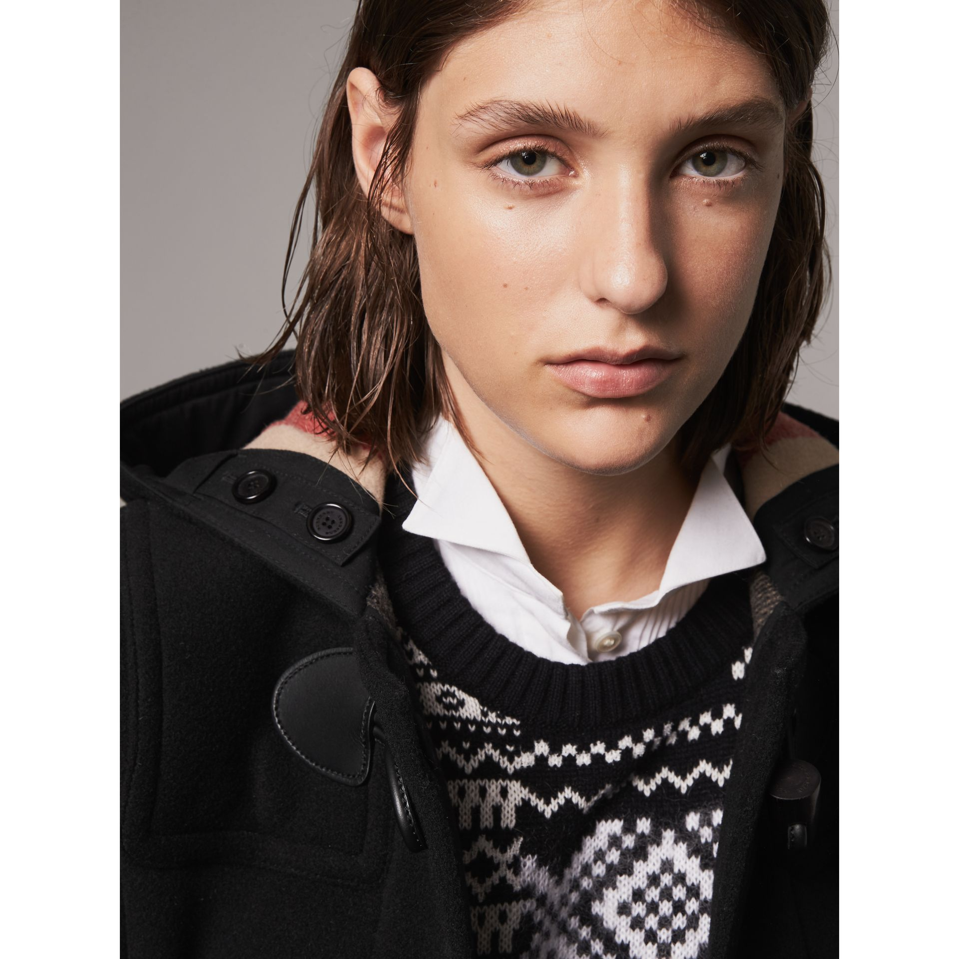The Mersey Duffle Coat in Black - Women | Burberry United Kingdom - gallery image 4