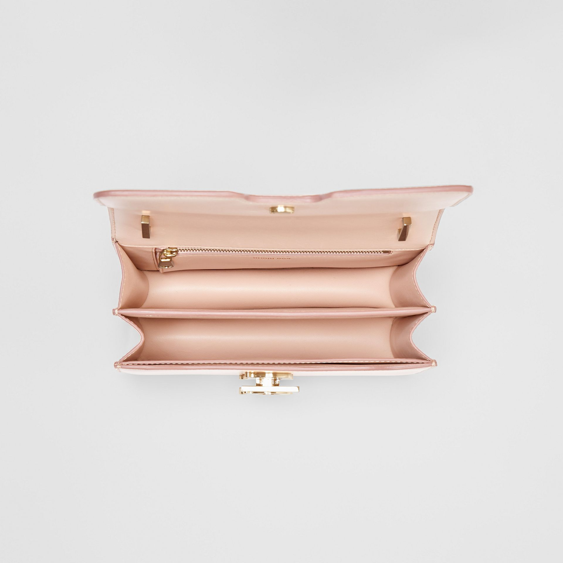 Small Leather TB Bag in Rose Beige - Women | Burberry - gallery image 4