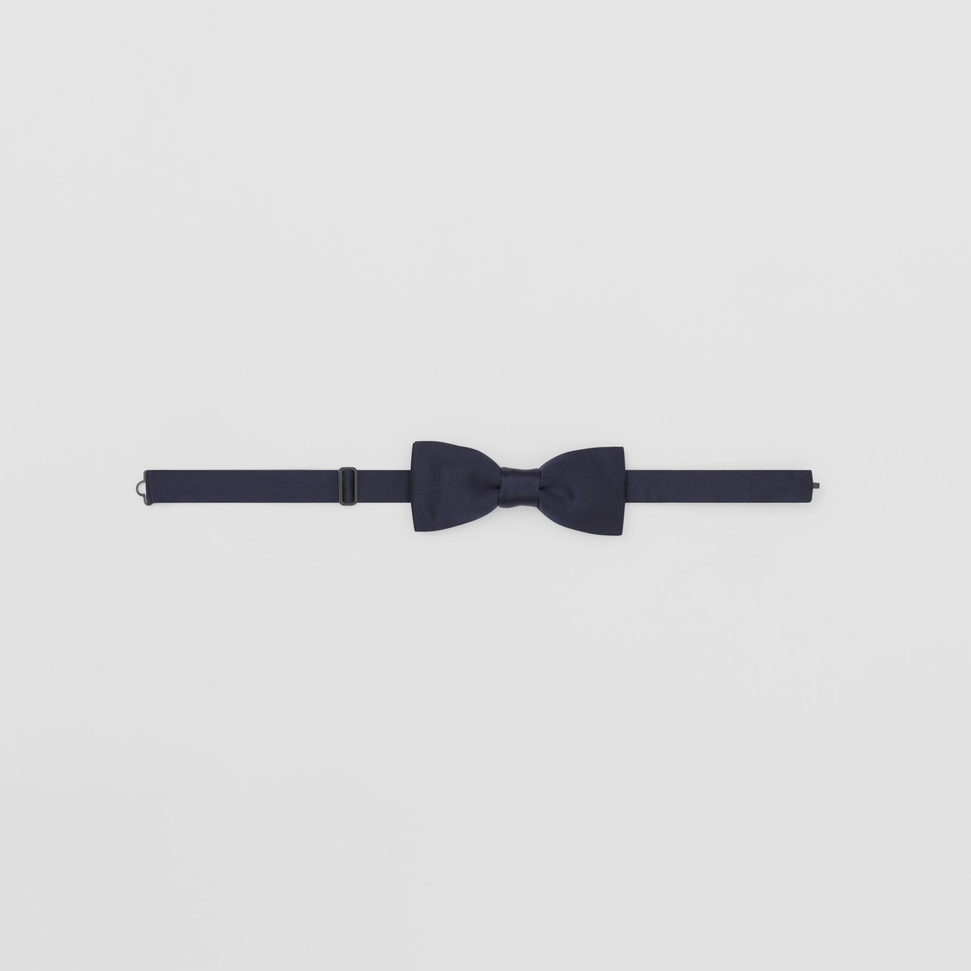 Silk Satin Bow Tie in Navy - Men | Burberry - gallery image 0