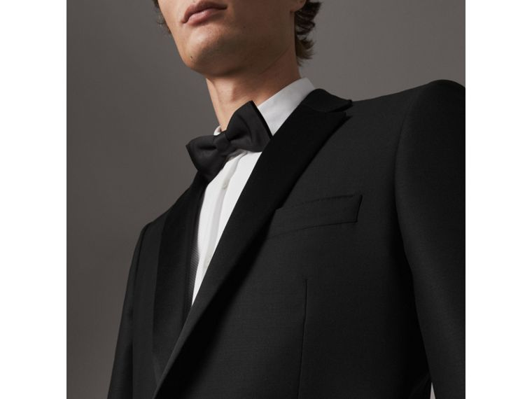 Modern Fit Wool Mohair Tuxedo in Black - Men | Burberry Singapore - cell image 1