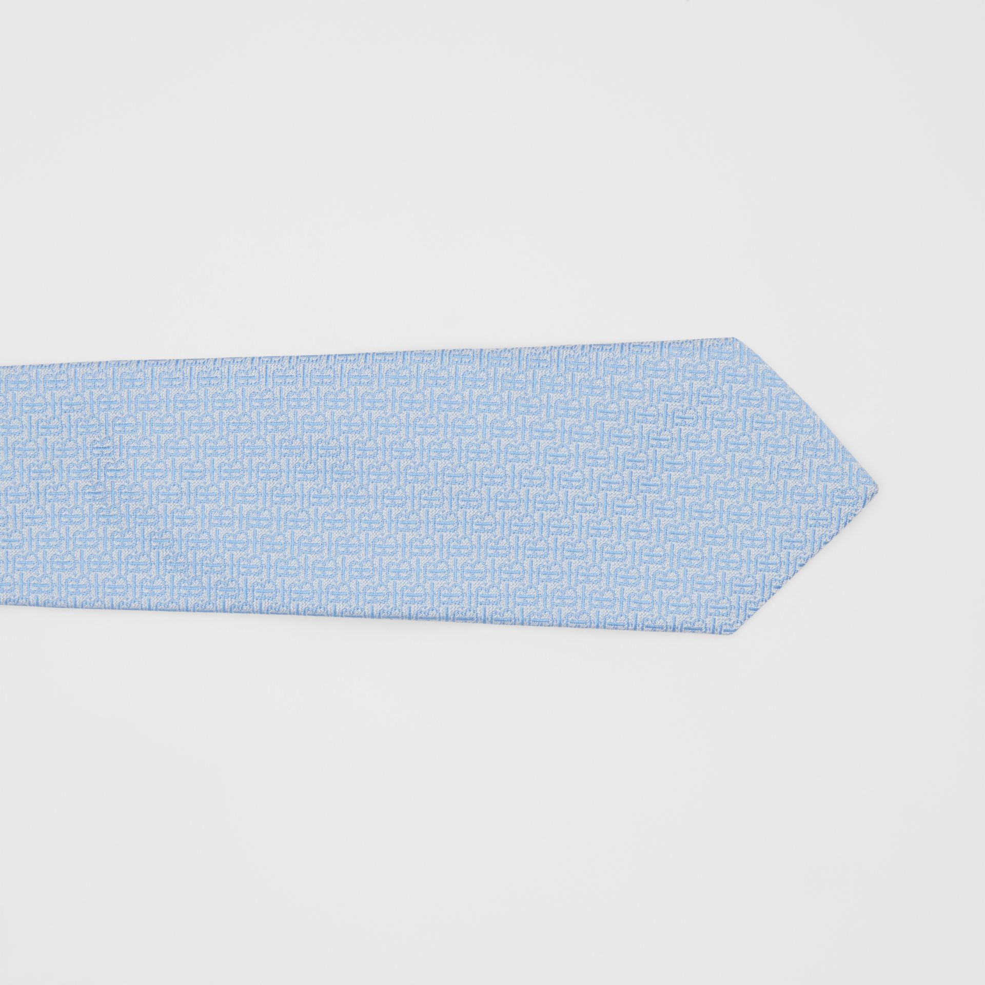 Classic Cut Monogram Silk Jacquard Tie in Pale Blue - Men | Burberry - gallery image 1