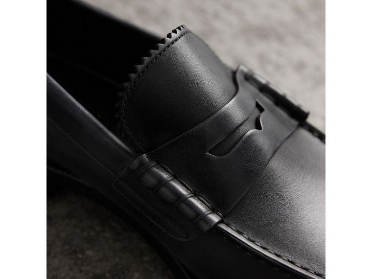 Penny loafer in pelle (Nero) - Uomo | Burberry - cell image 1