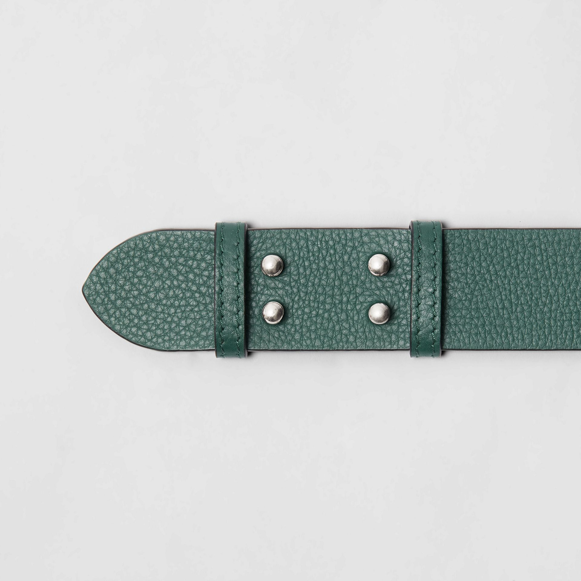 The Medium Belt Bag Grainy Leather Belt in Sea Green - Women | Burberry - gallery image 1