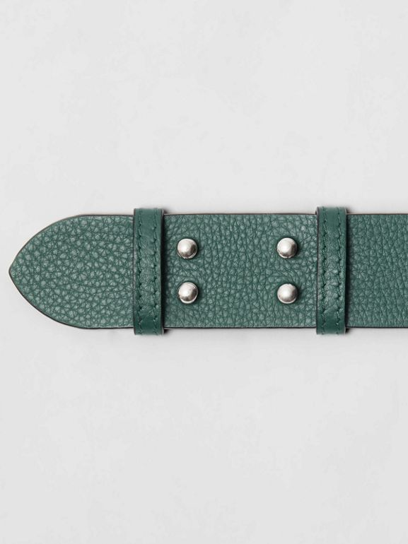 The Medium Belt Bag Grainy Leather Belt in Sea Green - Women | Burberry Australia - cell image 1
