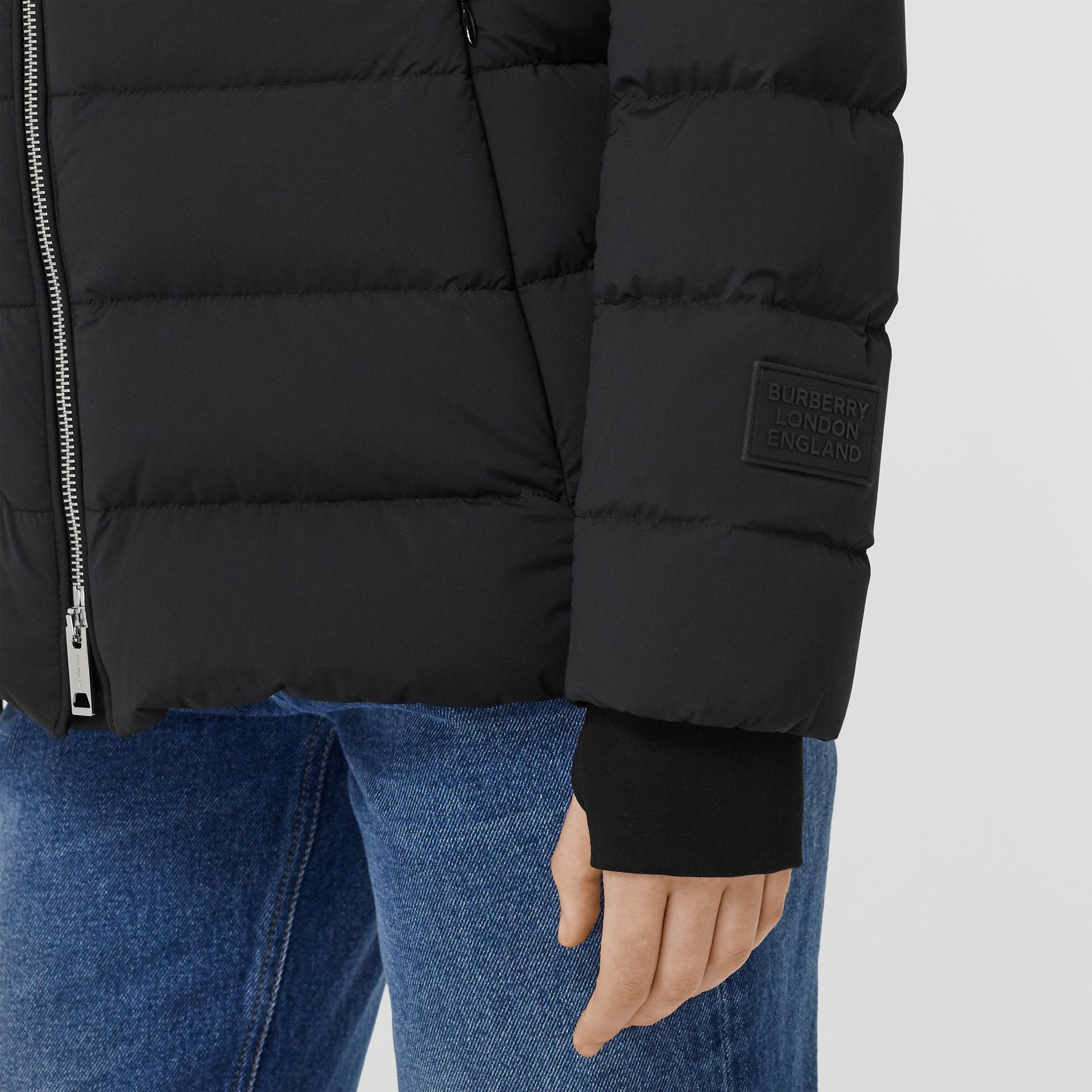 Hooded Puffer Jacket in Black - Women | Burberry United States - gallery image 4