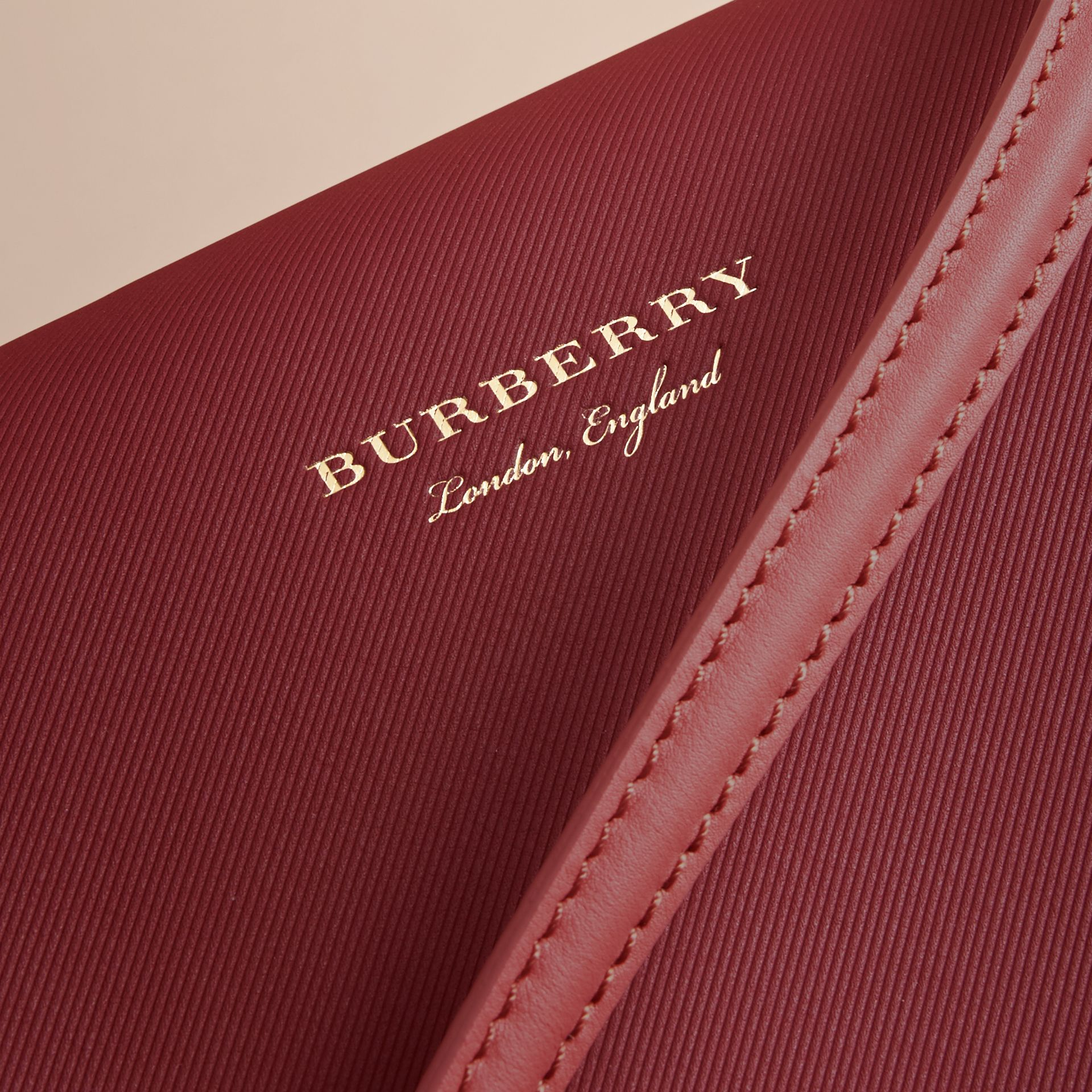 The Medium DK88 Top Handle Bag with Alligator in Tan/antique Red - Women | Burberry Singapore - gallery image 6