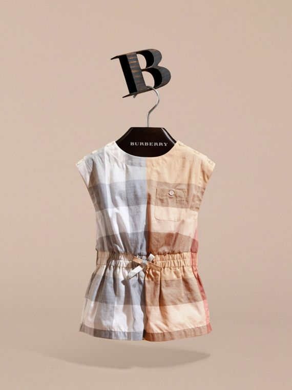 Check Cotton Playsuit - cell image 2