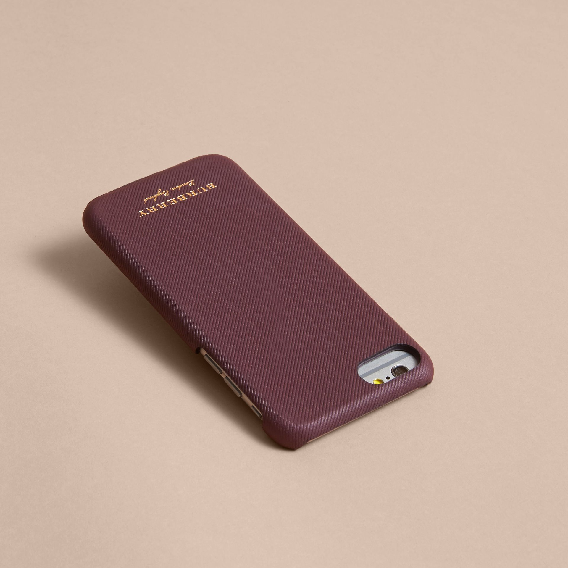 Trench Leather iPhone 7 Case in Wine | Burberry - gallery image 3