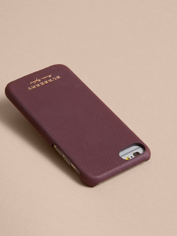 Trench Leather iPhone 7 Case in Wine | Burberry - cell image 2