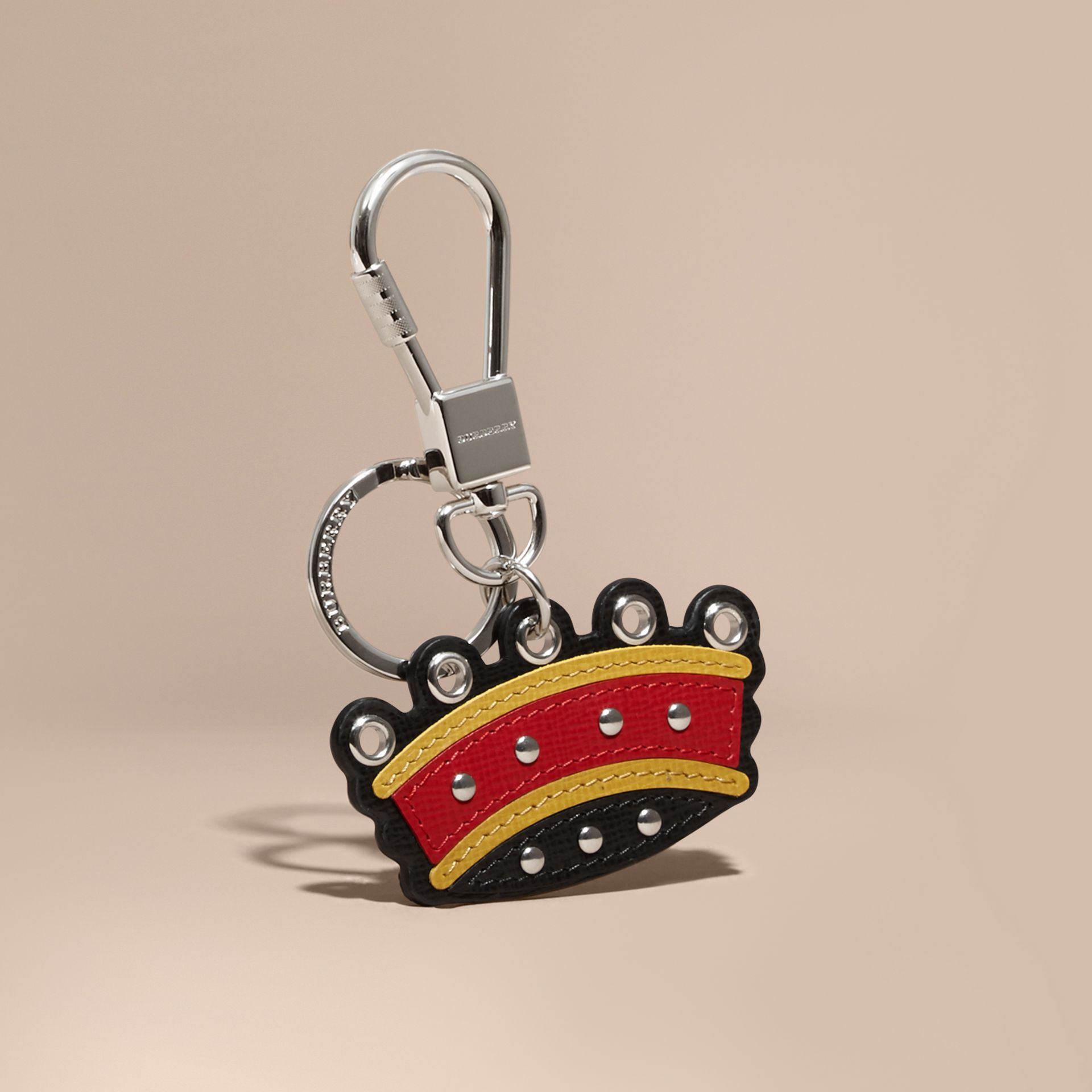 Parade red Crown Key Ring in Leather - gallery image 1