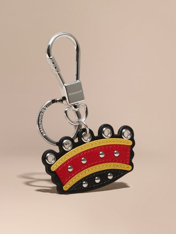 Crown Key Ring in Leather