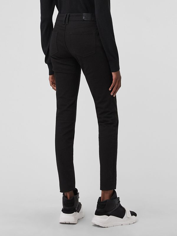Skinny Fit Low-Rise Deep Black Jeans - Women | Burberry United States - cell image 2