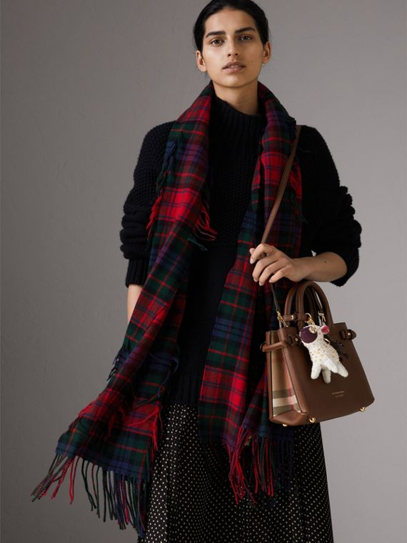 The Small Banner aus Leder und House Check-Gewebe (Hellbraun) - Damen | Burberry - cell image 2
