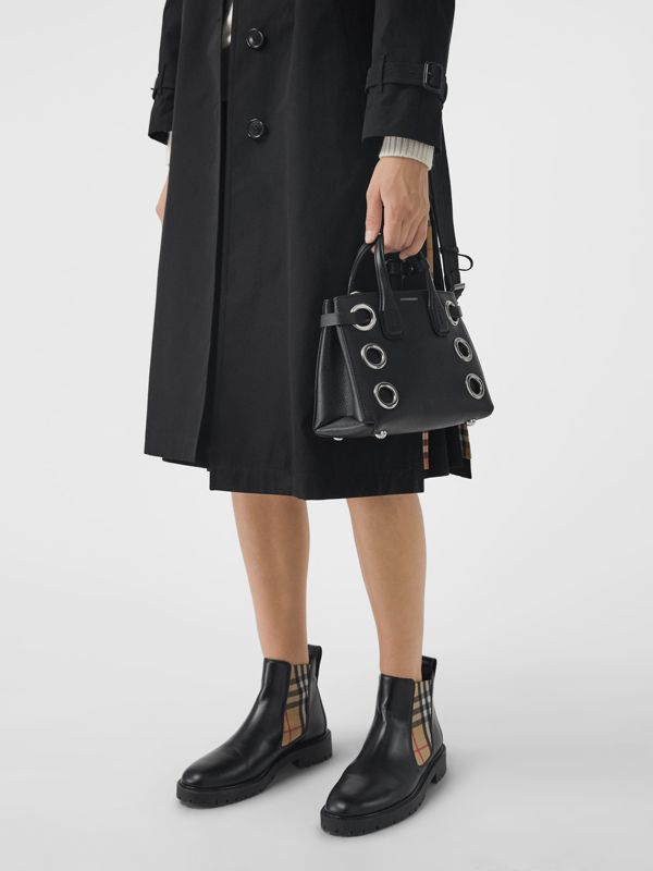The Baby Banner in Grommeted Leather in Black - Women | Burberry - cell image 3