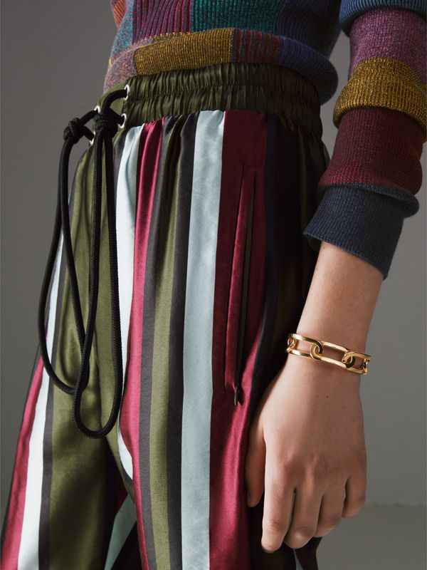 Gold-plated Link Cuff in Light - Women | Burberry - cell image 2