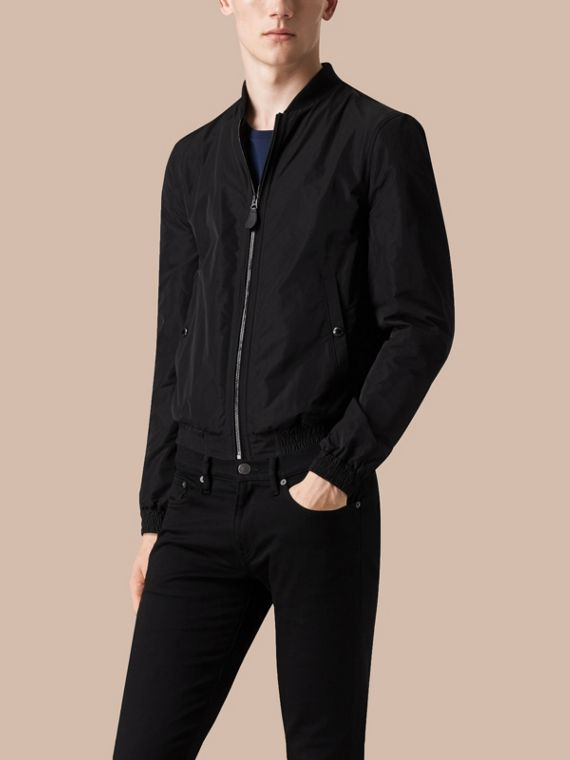 Black Showerproof Bomber Jacket Black - cell image 3
