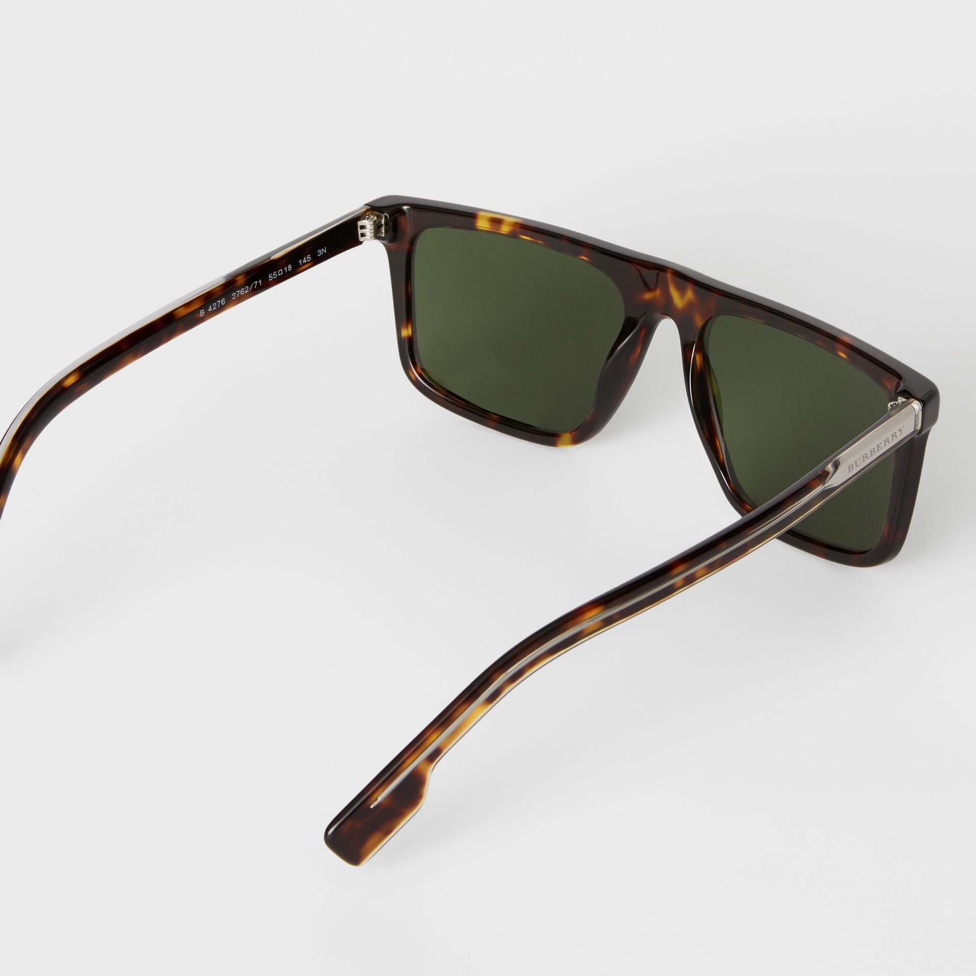 Straight-brow Sunglasses in Tortoise Shell - Men | Burberry United Kingdom - gallery image 3