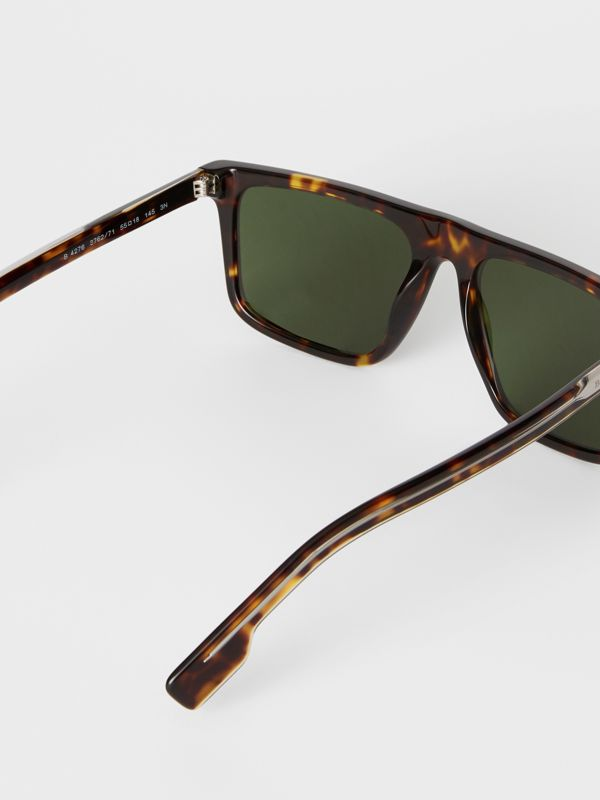 Straight-brow Sunglasses in Tortoise Shell - Men | Burberry United Kingdom - cell image 3