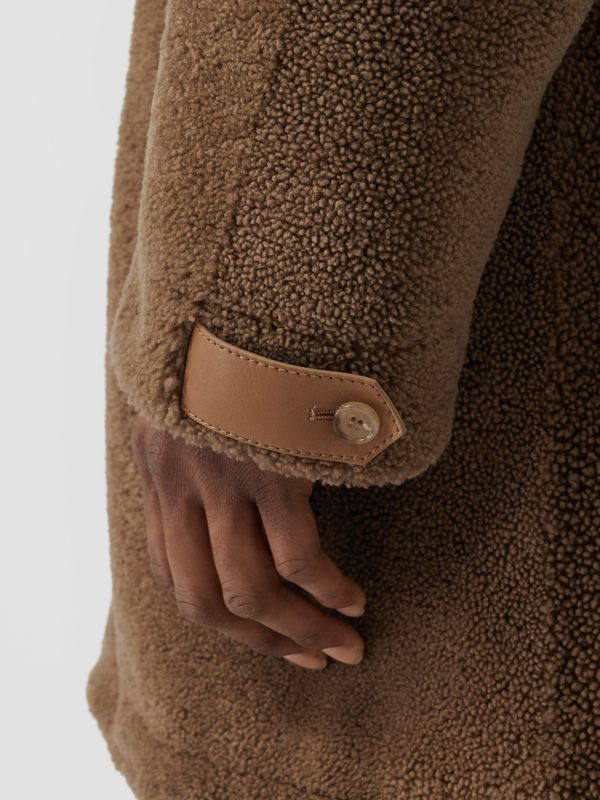 Shearling Parka with Detachable Hood and Jacket in Pale Coffee - Men | Burberry Australia - cell image 3