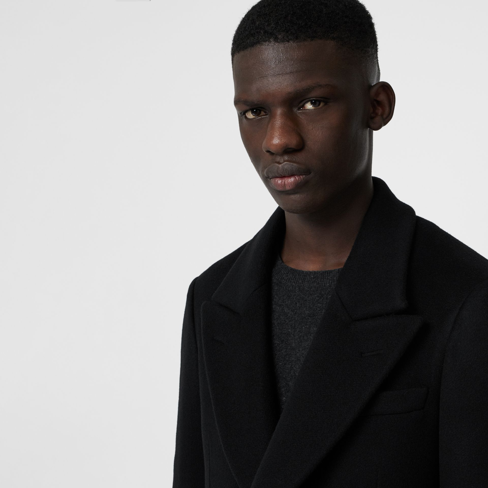 Double-faced Cashmere Tailored Coat in Black - Men | Burberry United Kingdom - gallery image 1