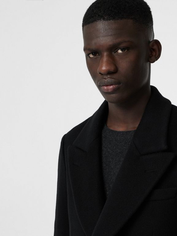 Double-faced Cashmere Tailored Coat in Black - Men | Burberry United Kingdom - cell image 1