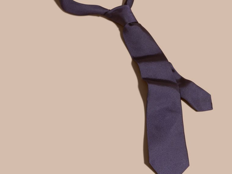 Navy Modern Cut Silk Twill Tie Navy - cell image 2