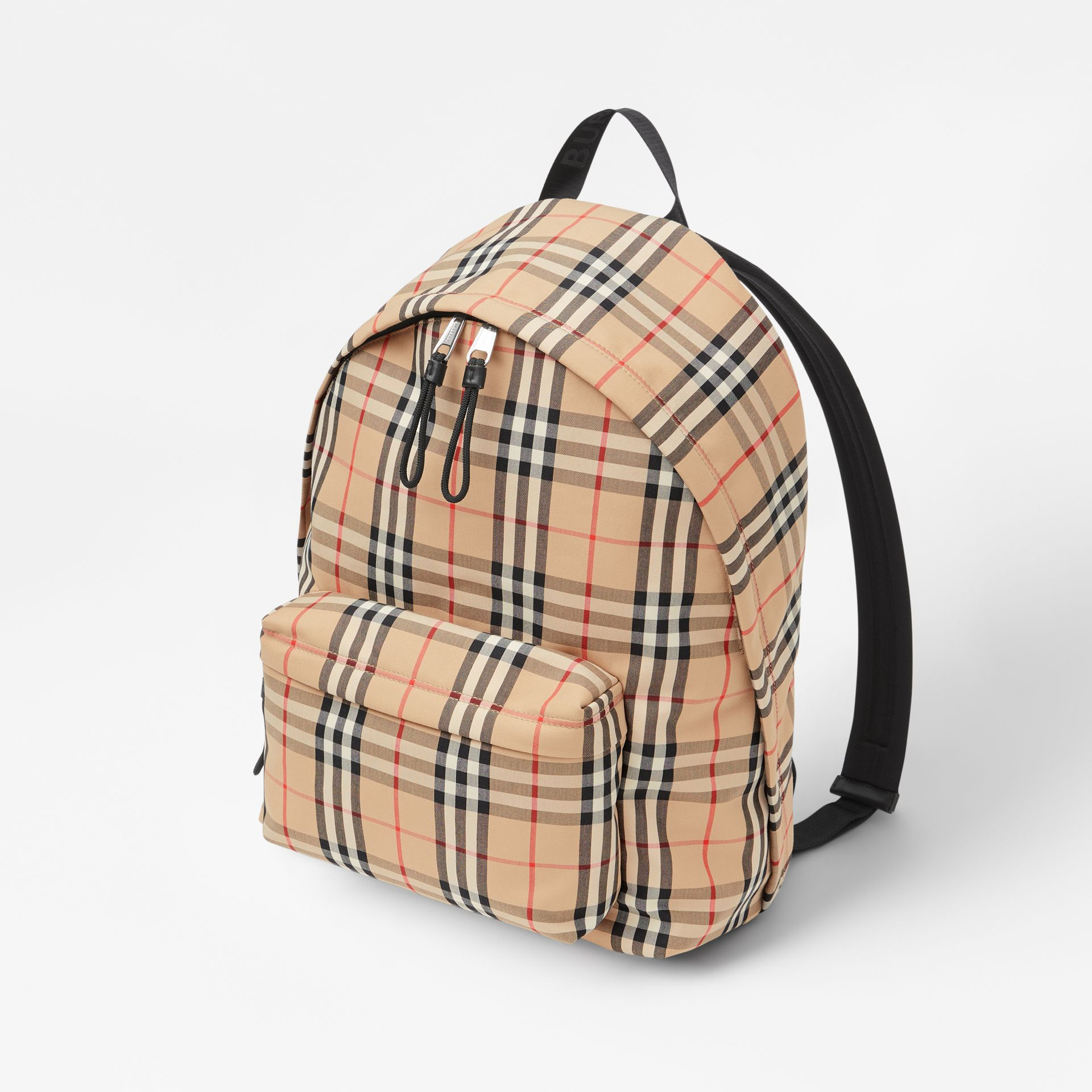 Vintage Check Nylon Backpack in Archive Beige | Burberry Canada - gallery image 3
